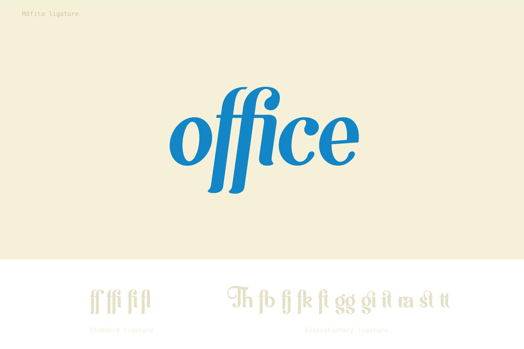 Möfita font example image 7
