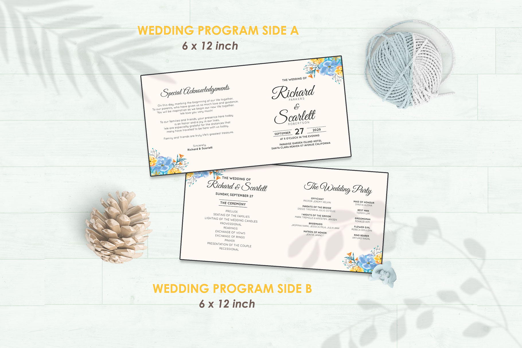 Wedding Invitation Set #7 Watercolor Floral Flower Style example image 5
