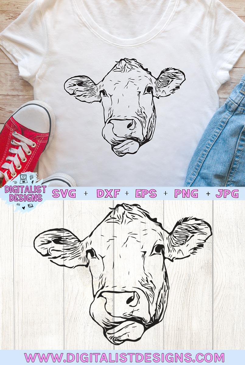 Cow Face SVG, Heifer SVG, Farm SVG example image 3