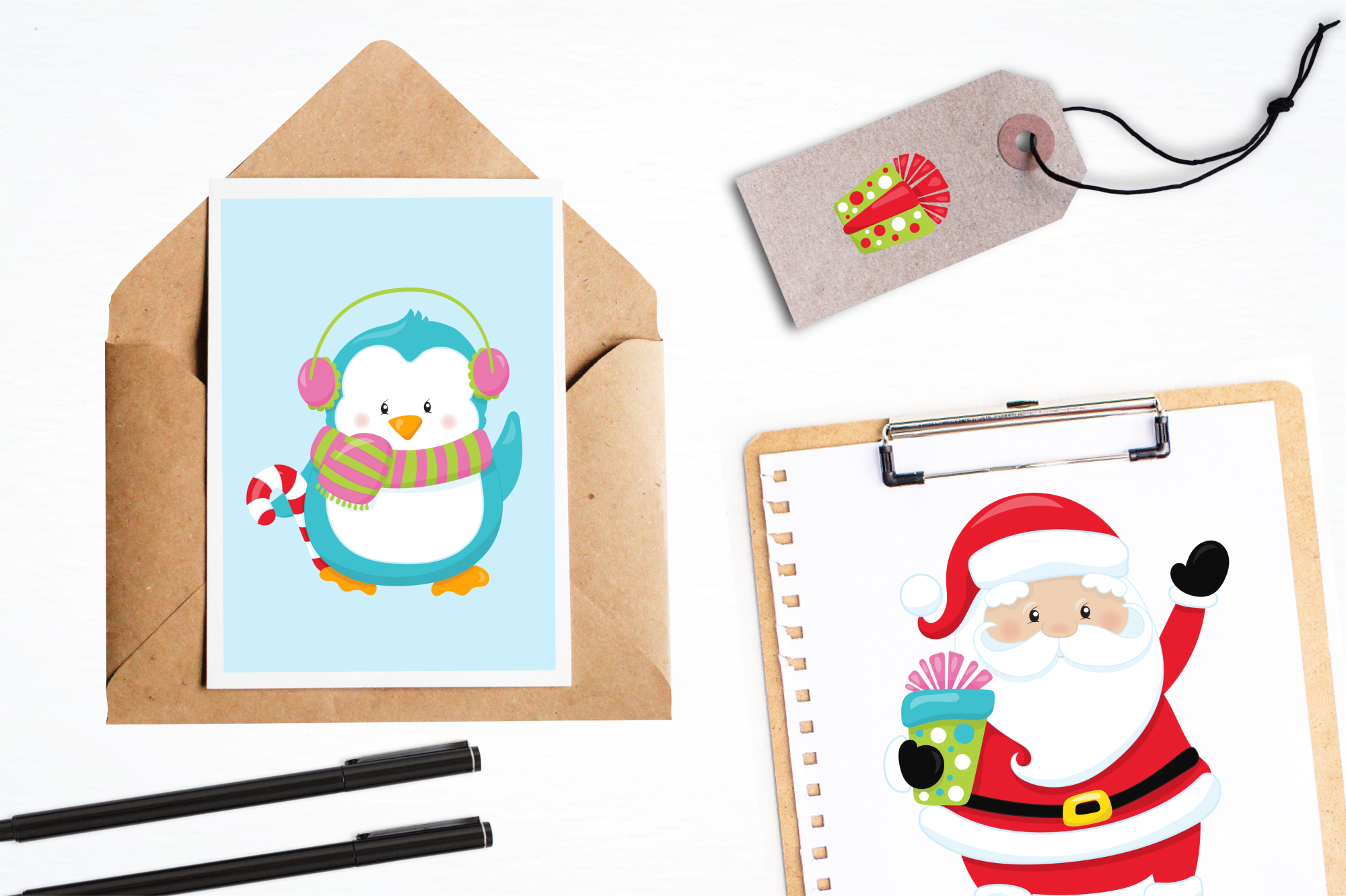 Christmas Friends graphics and illustrations example image 4
