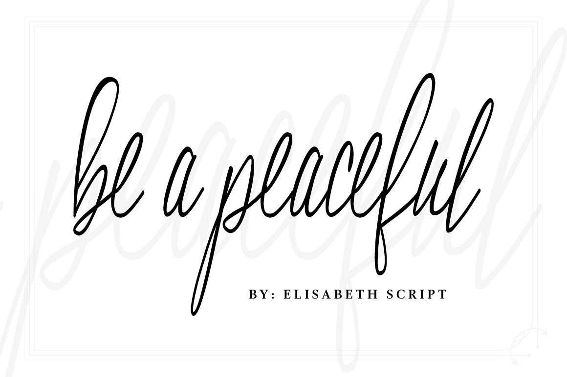 Elisabeth Script Font example image 2