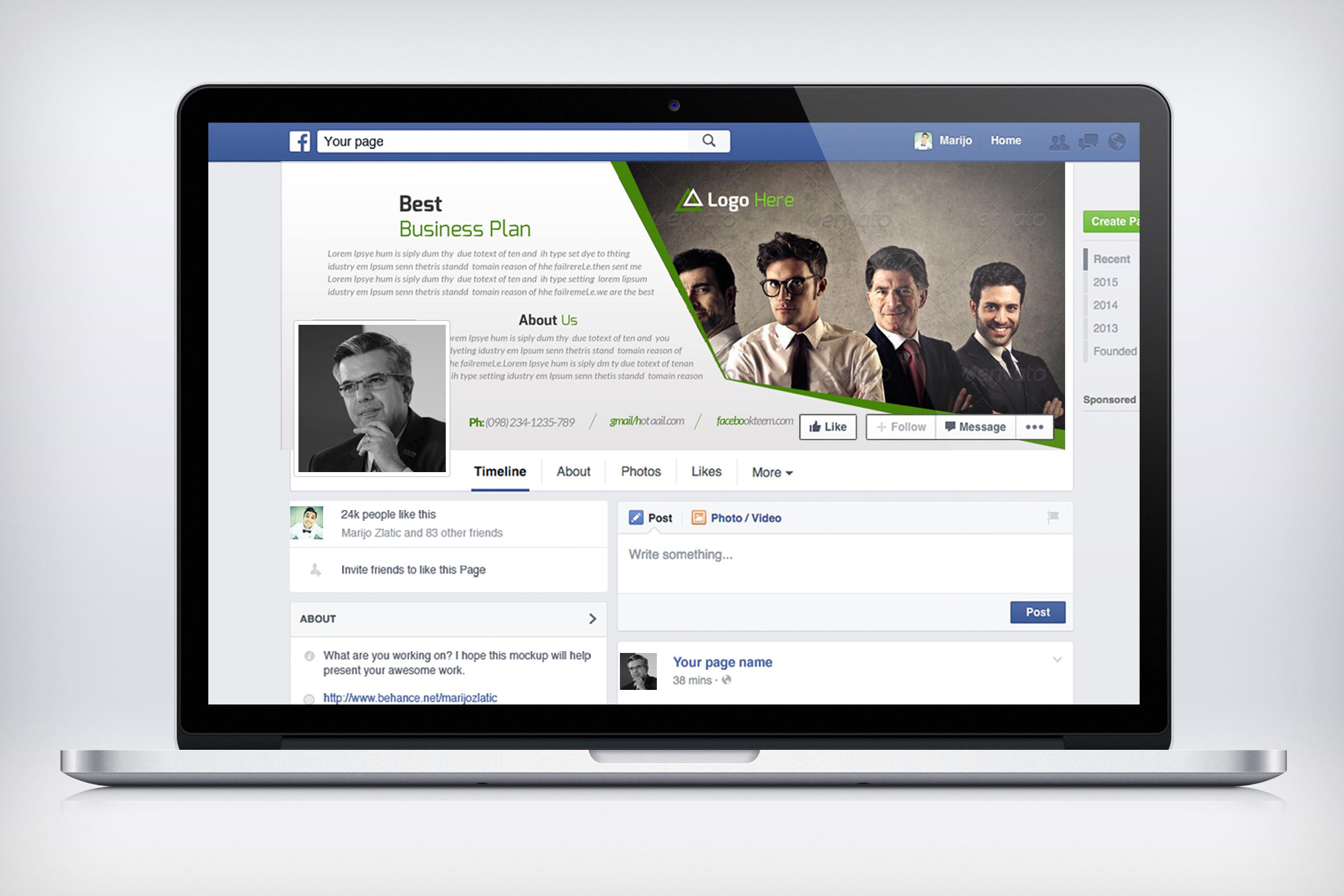 Business Group Facebook Timeline