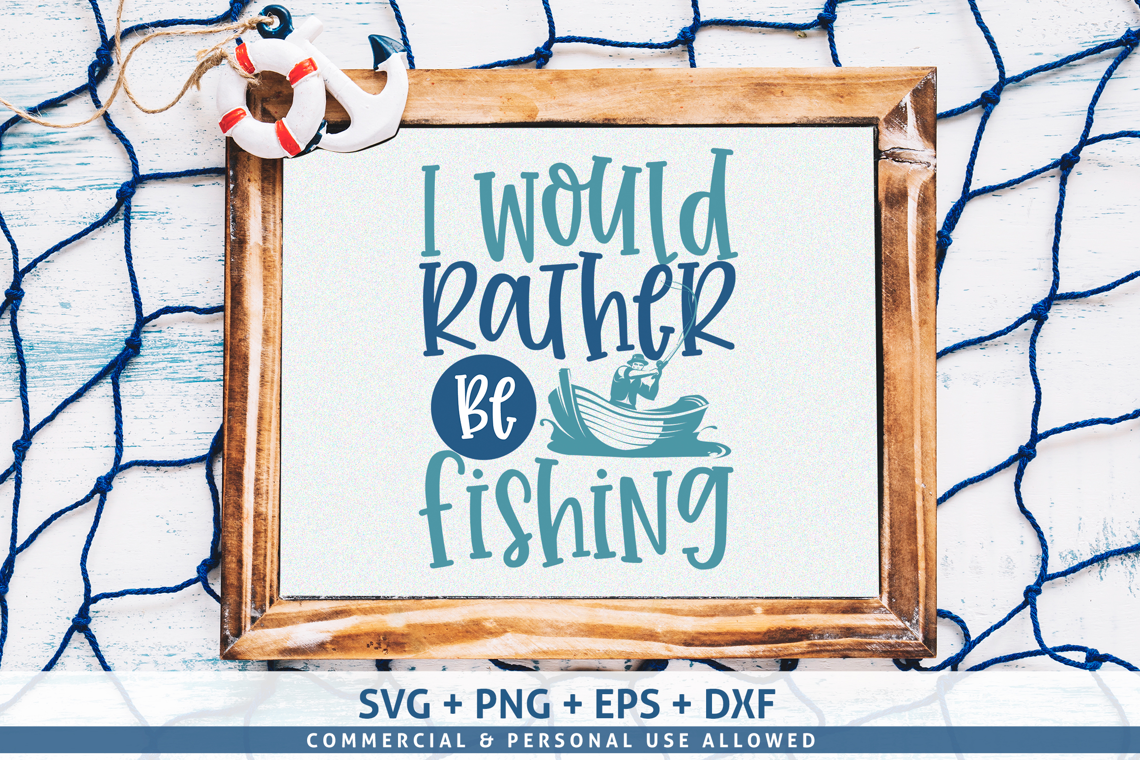 I would rather be fishing SVG example image 1