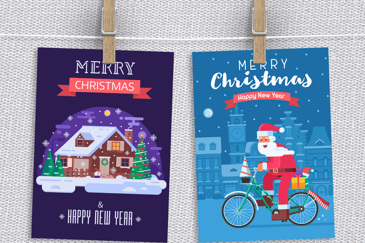 Santa Delivery Service Cards and Scenes example image 6
