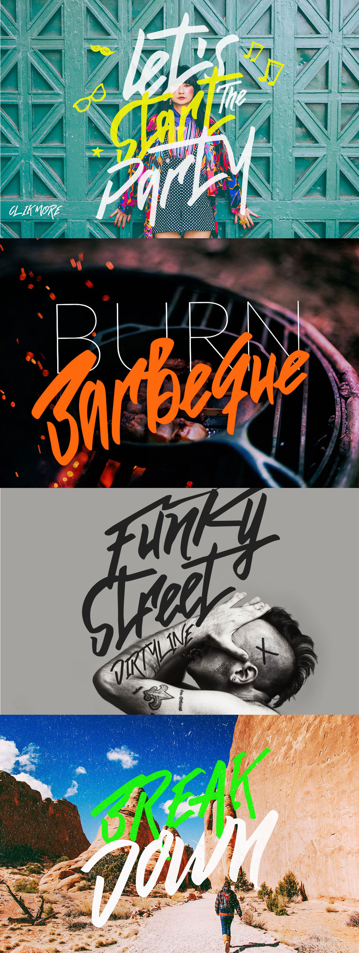Funkiess - Display Typeface + Bonus example image 3