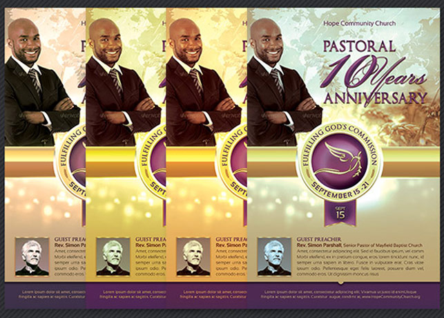 Clergy Anniversary Service Program Template example image 6