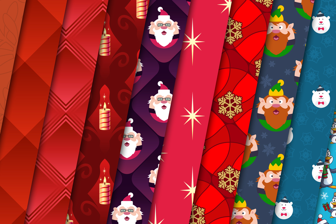 100 Christmas Seamless Patterns example image 12
