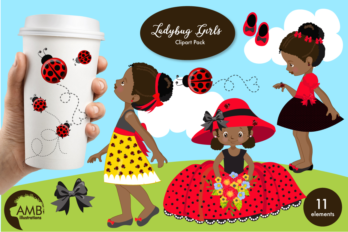 Sweet little ladies graphics, clipart, illustrations AMB-1598 example image 1