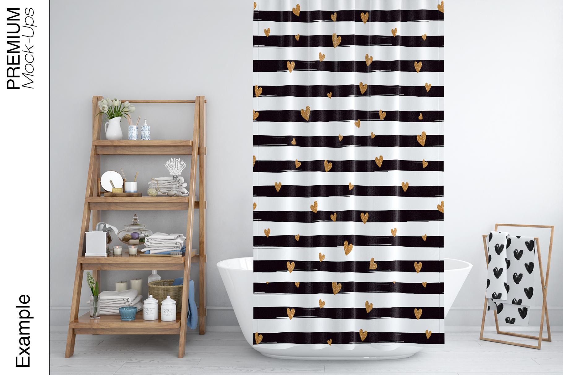 Bath Curtain Mockups example image 13