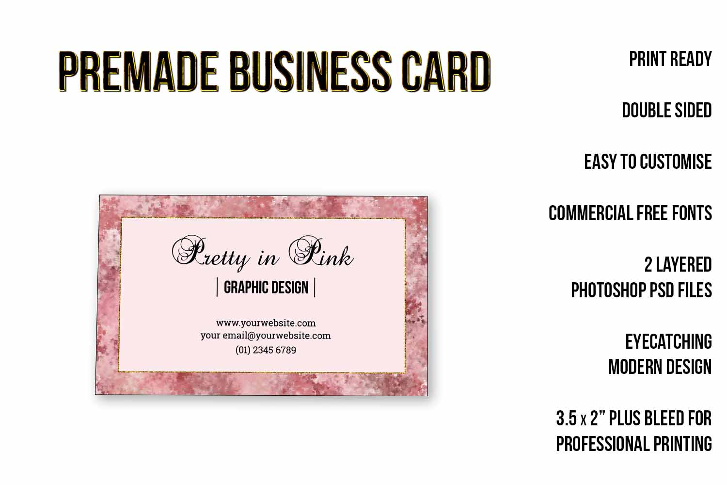 Elegant pink and gold business card template elegant pink and gold business card template example image 2 accmission Gallery