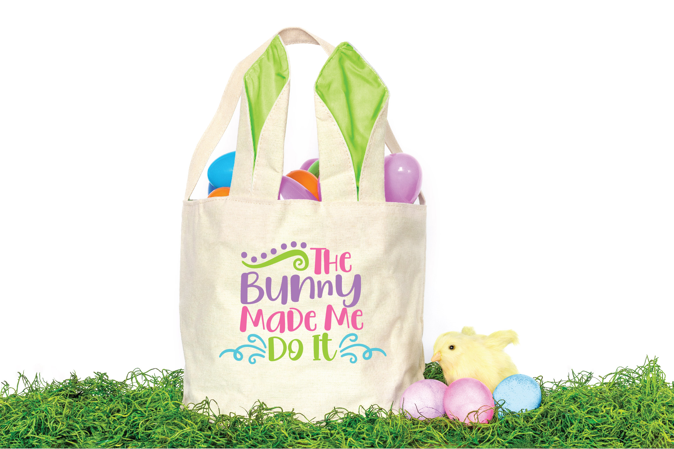 Easter SVG Cut File - The Bunny Made Me Do It SVG DXF EPS example image 3
