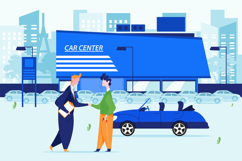 Car Dealership Vector Illustration Pack example image 9