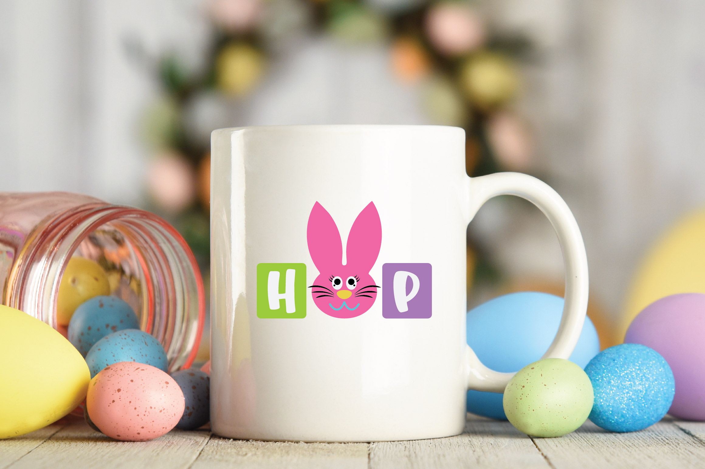 Easter SVG Cut File - Hop SVG DXF EPS PNG AI example image 5