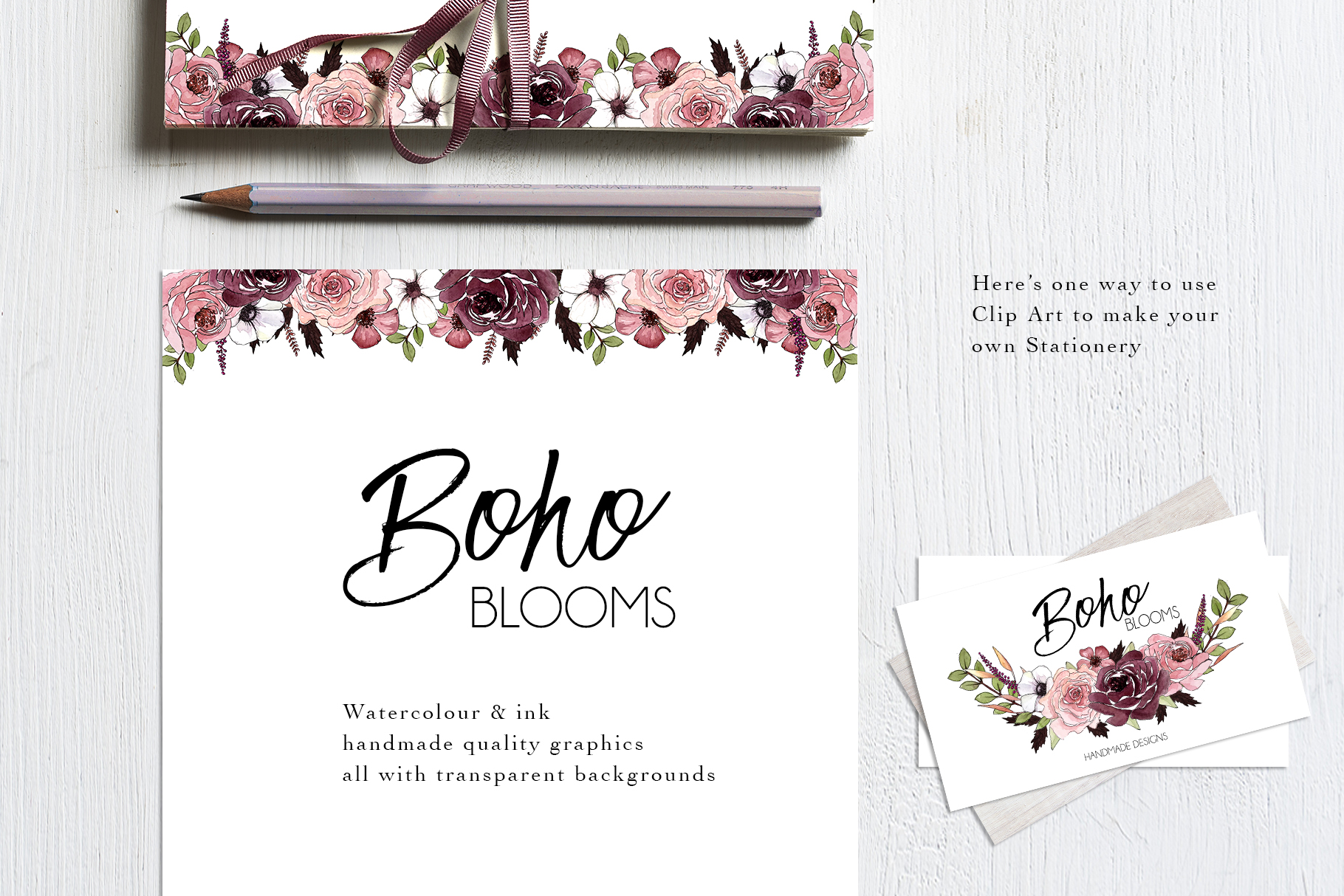 Watercolor ClipArt Boho Blooms Vol.2 example image 2