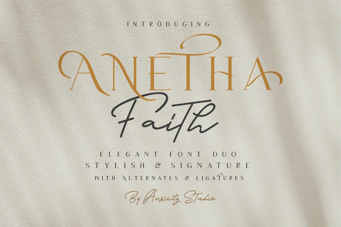 Anetha Faith Font Duo - Extras Logo Template example image 2