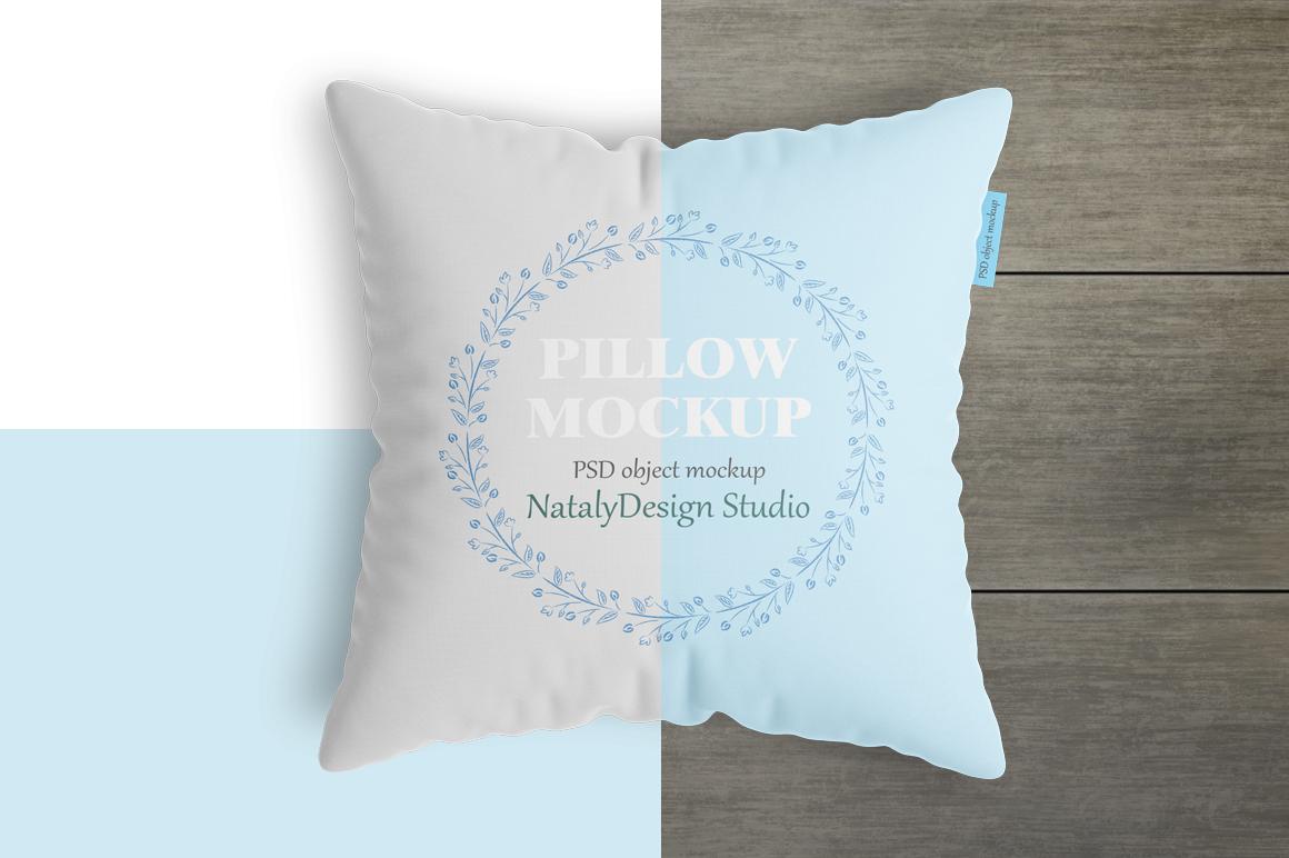 Square pillow mockup. Product mockup. example image 4