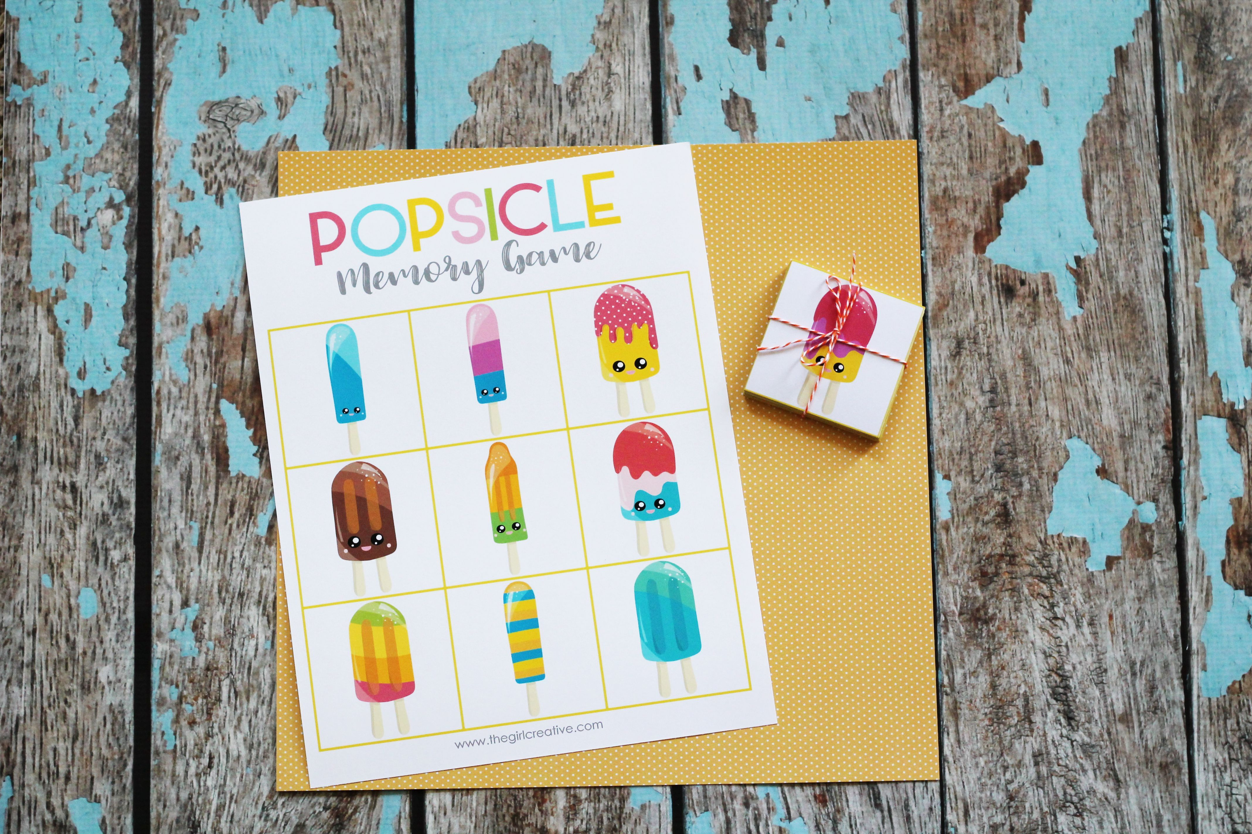 Printable Summer Memory Matching Game - 3 Games - ONE Download example image 2