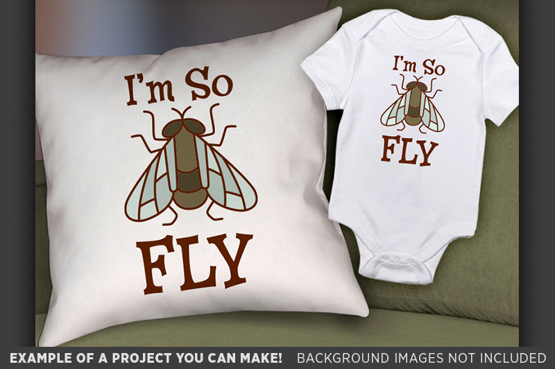 I'm So Fly Svg File - Cute Kids Shirt Svg - 1089 example image 2