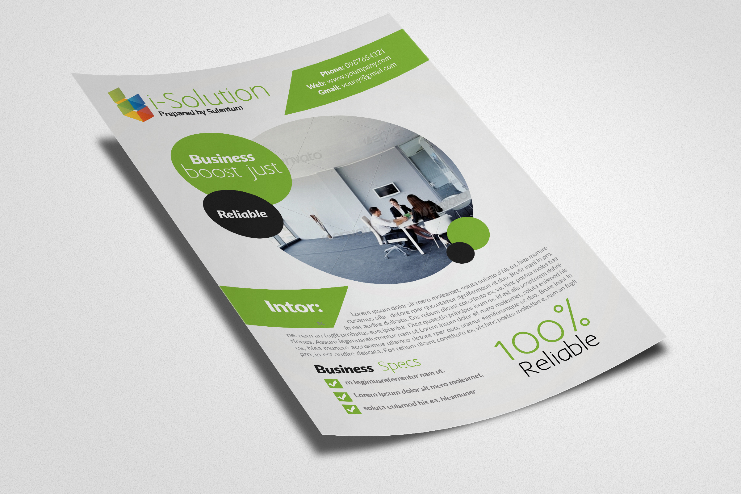 Business Dealing flyer example image 2