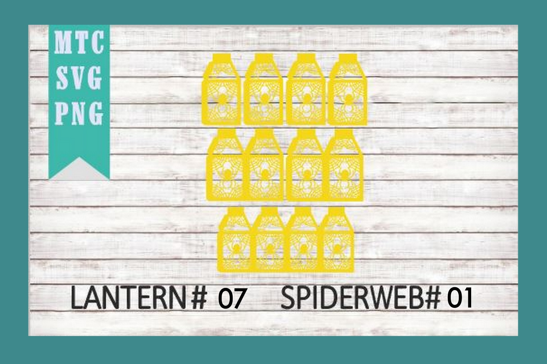 Halloween Lantern #07 Spiderweb #01 SVG Cut File example image 3