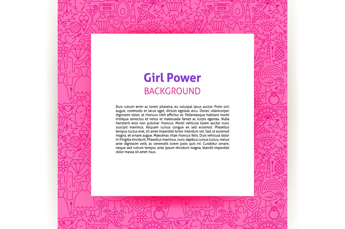 Girl Power Line Tile Patterns example image 5