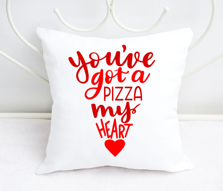 Pun SVG - Pizza SVG - You've got a pizza my heart example image 2