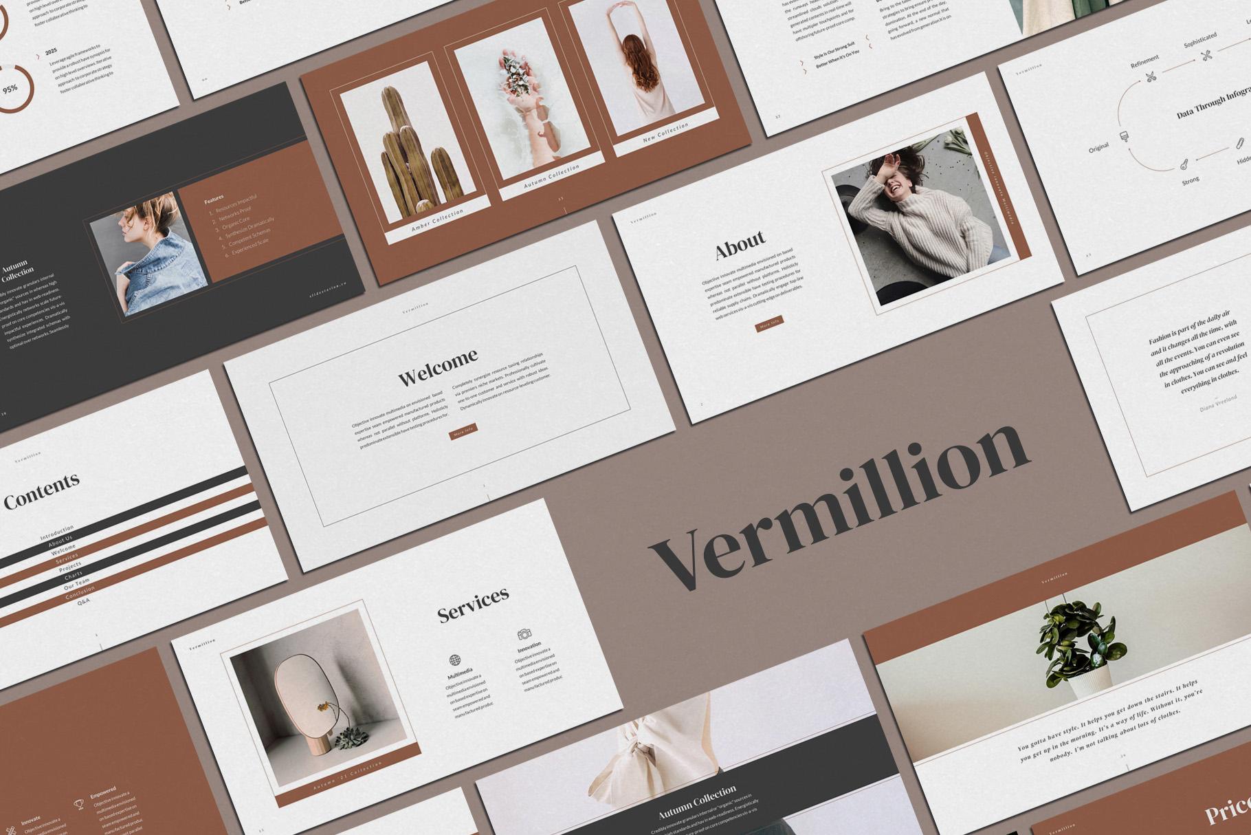 Vermillion PowerPoint Presentation Template example image 2