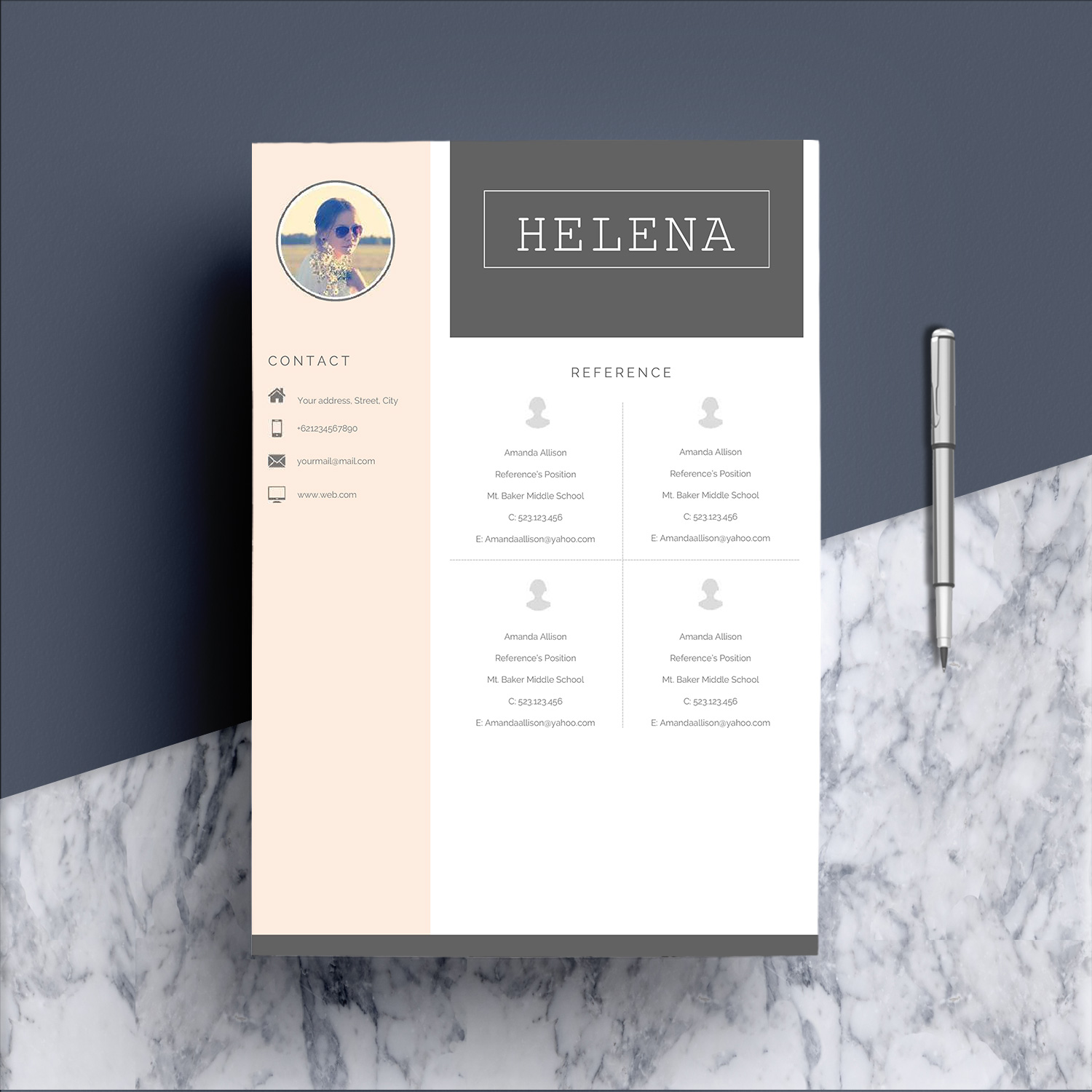 Professional Resume Template CV 4 Pages example image 6