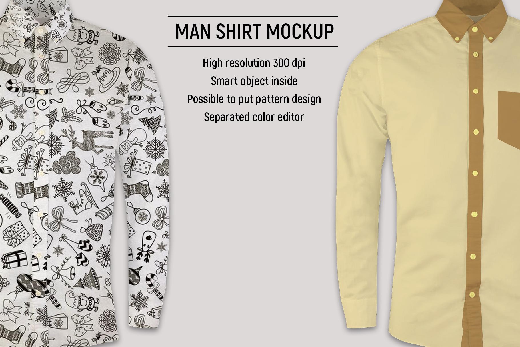 Man shirt mockup example image 2