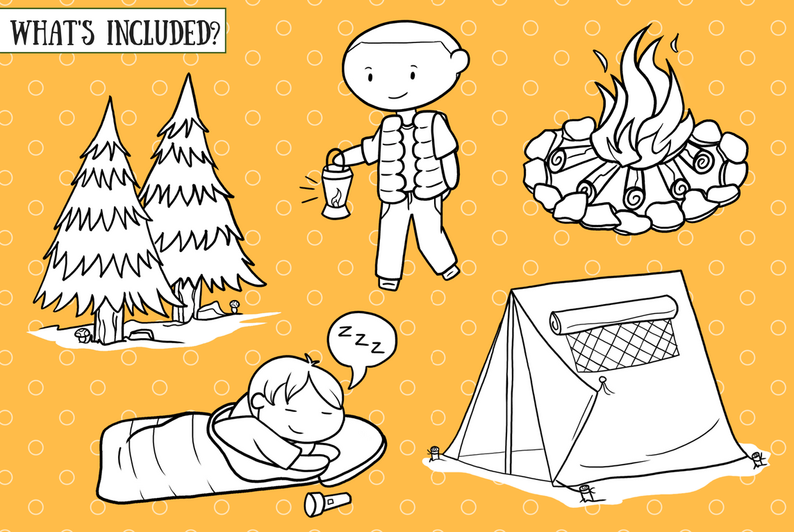 Going Camping Digital Stamps example image 2