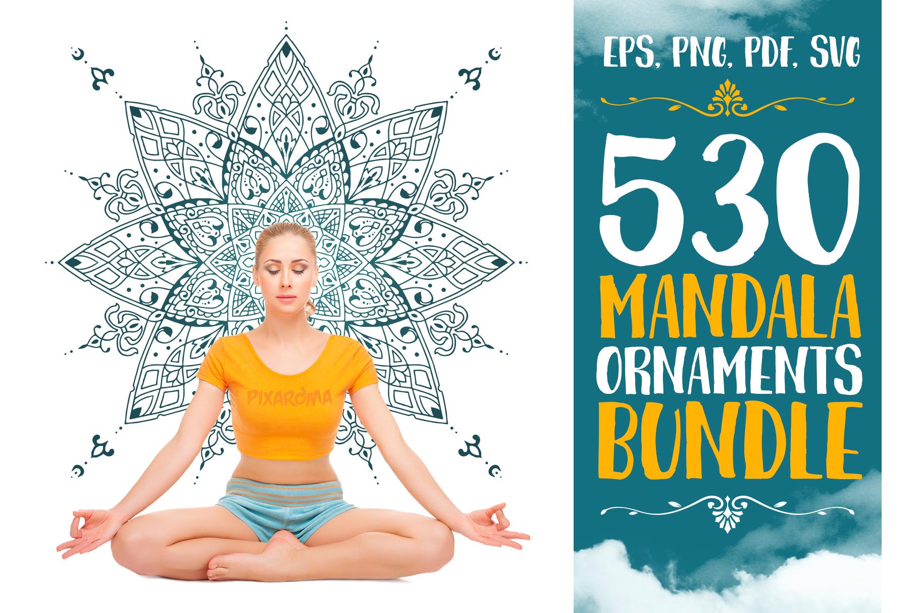 530 Vector Mandala Ornaments Bundle example image 1