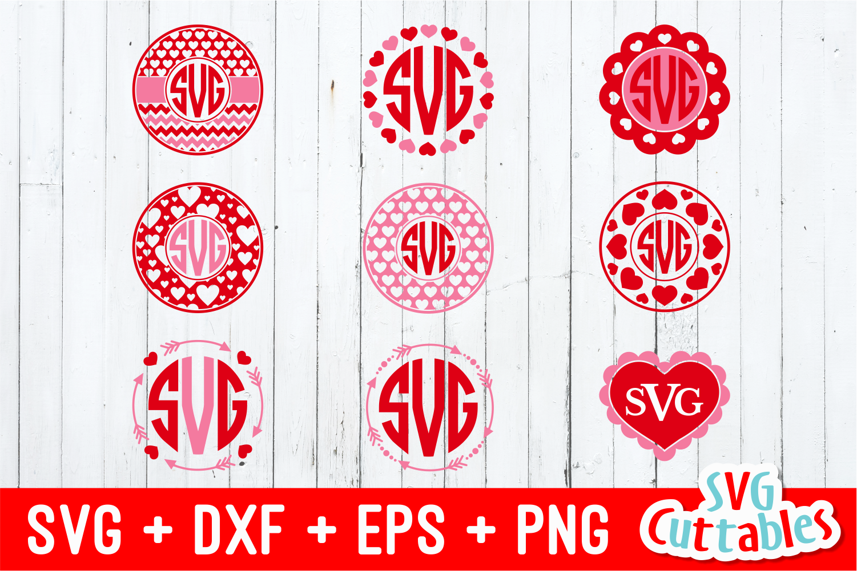 Valentines Day Monogram frames example image 1