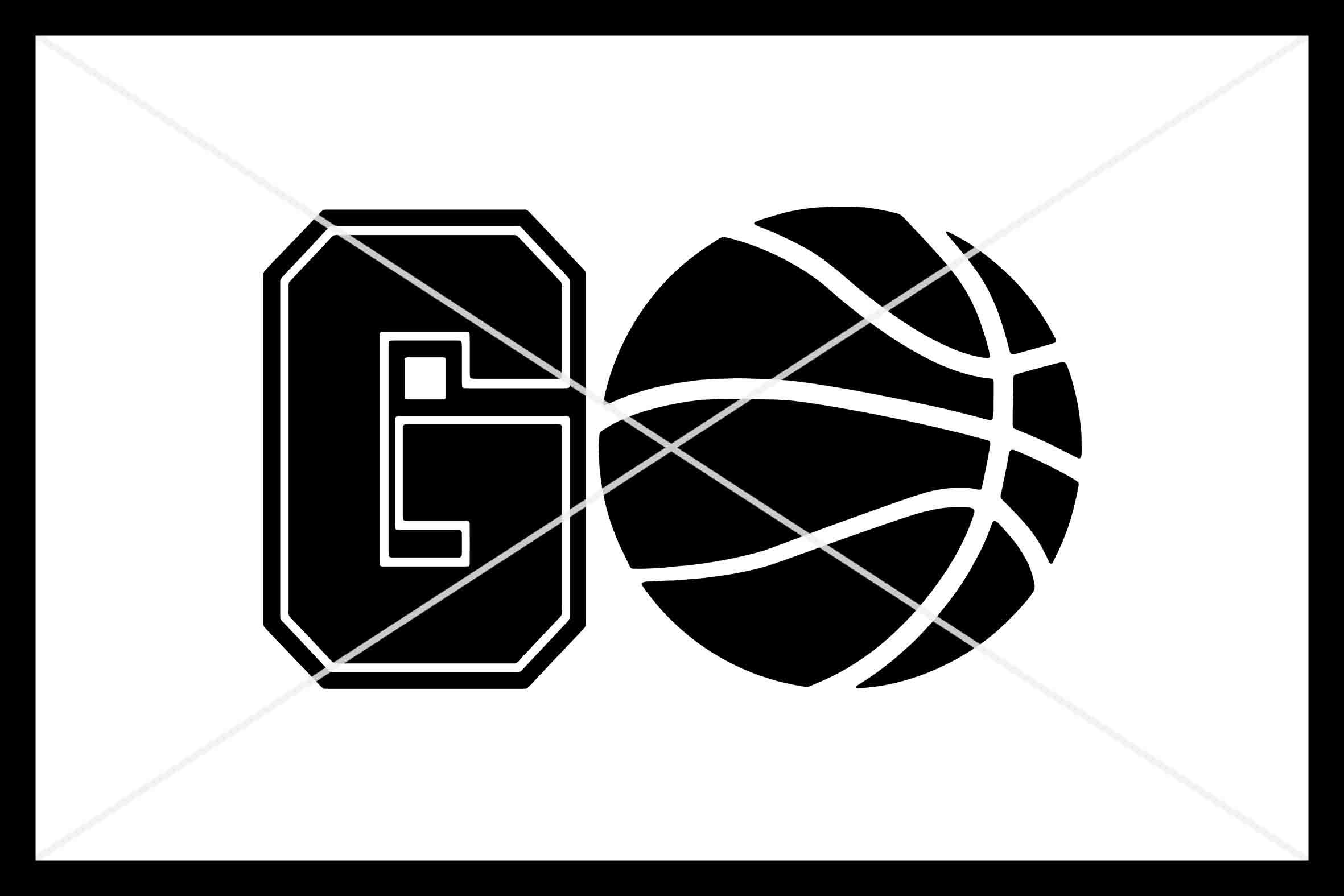 GO Basketball, Cut File, Silhouette Cameo, Cricut, SVG DXF example image 1