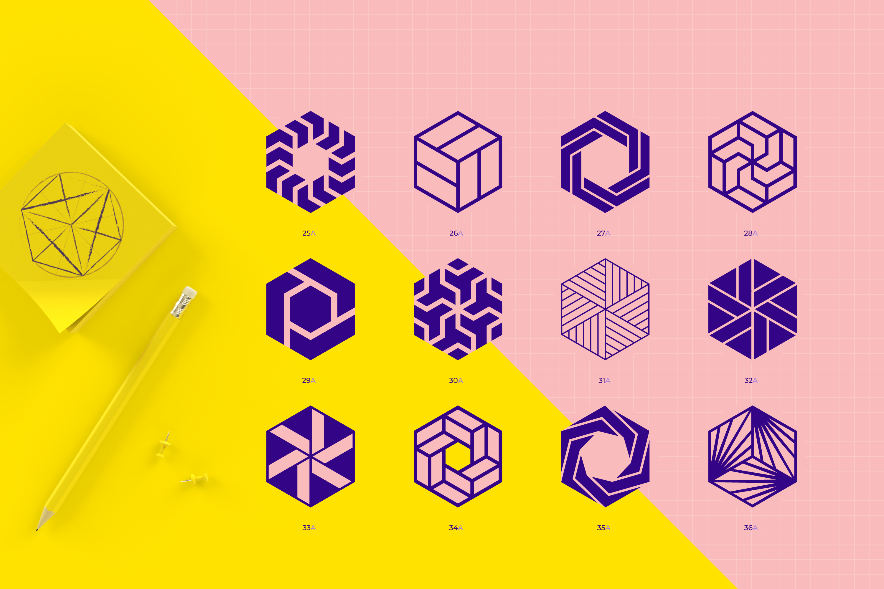 96 Geometric shapes & logo marks collection VOL.1 example image 8
