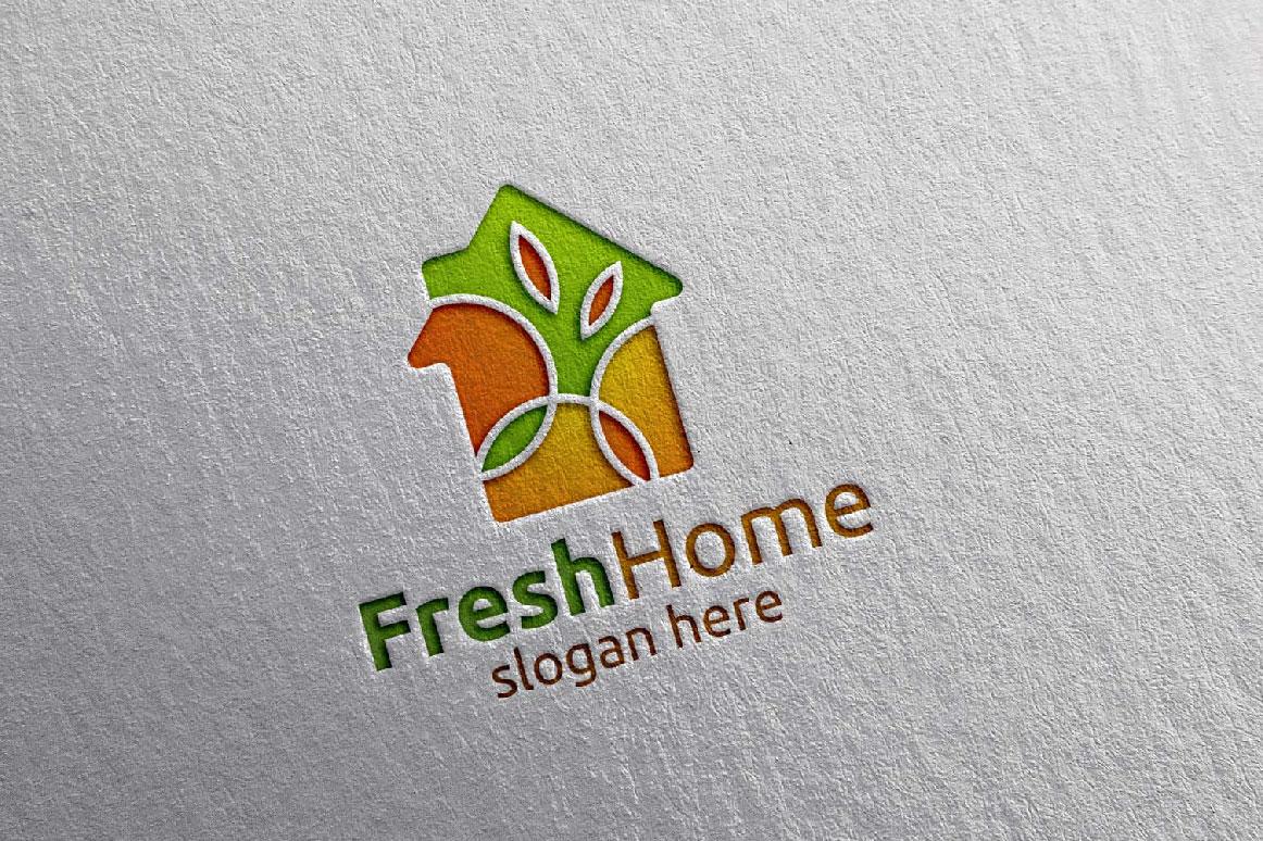 Real estate Logo, Fresh Home Logo 7 example image 1