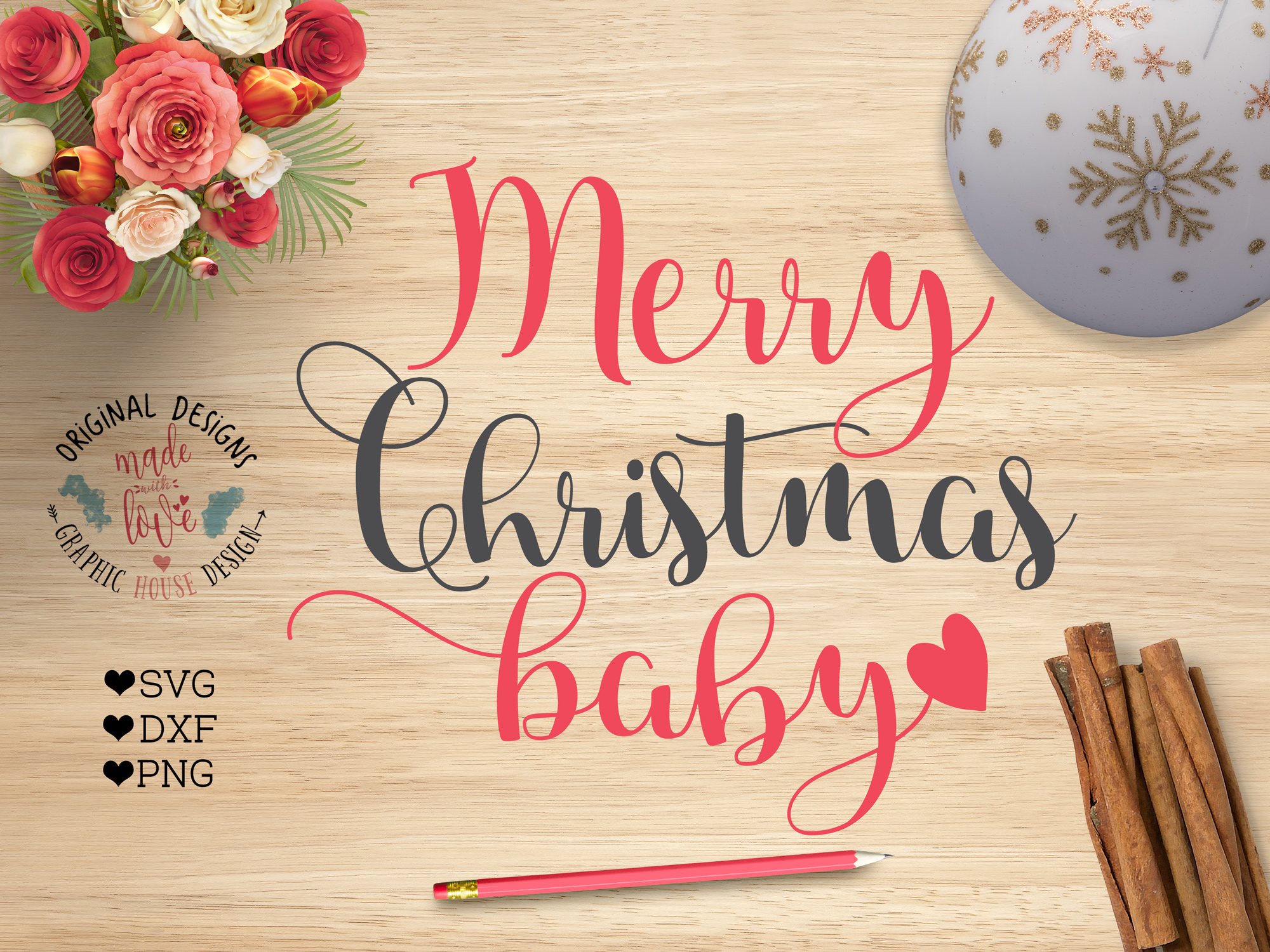 merry christmas baby cut files svg dxf png example image 1