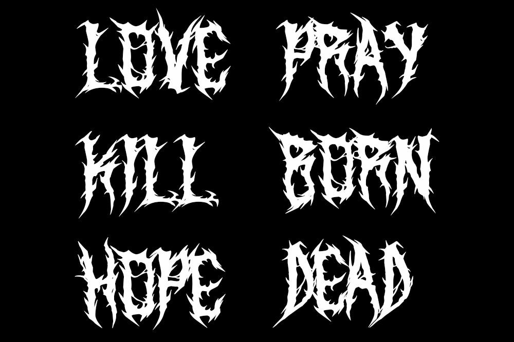 SARKEM TECHNICAL DEATH METAL FONT example image 5