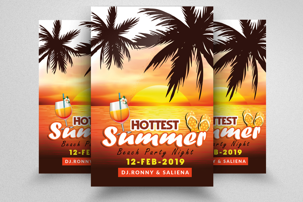 10 Summer Beach Party Flyers Bundle example image 10
