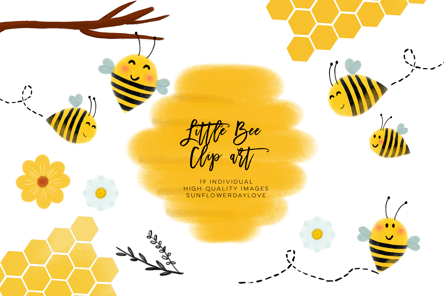 bee clip art, bees illustration, Honey bee clipart example image 3