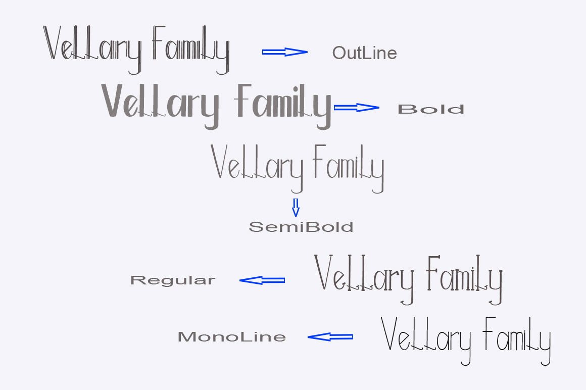 Vellary Family Font example image 2