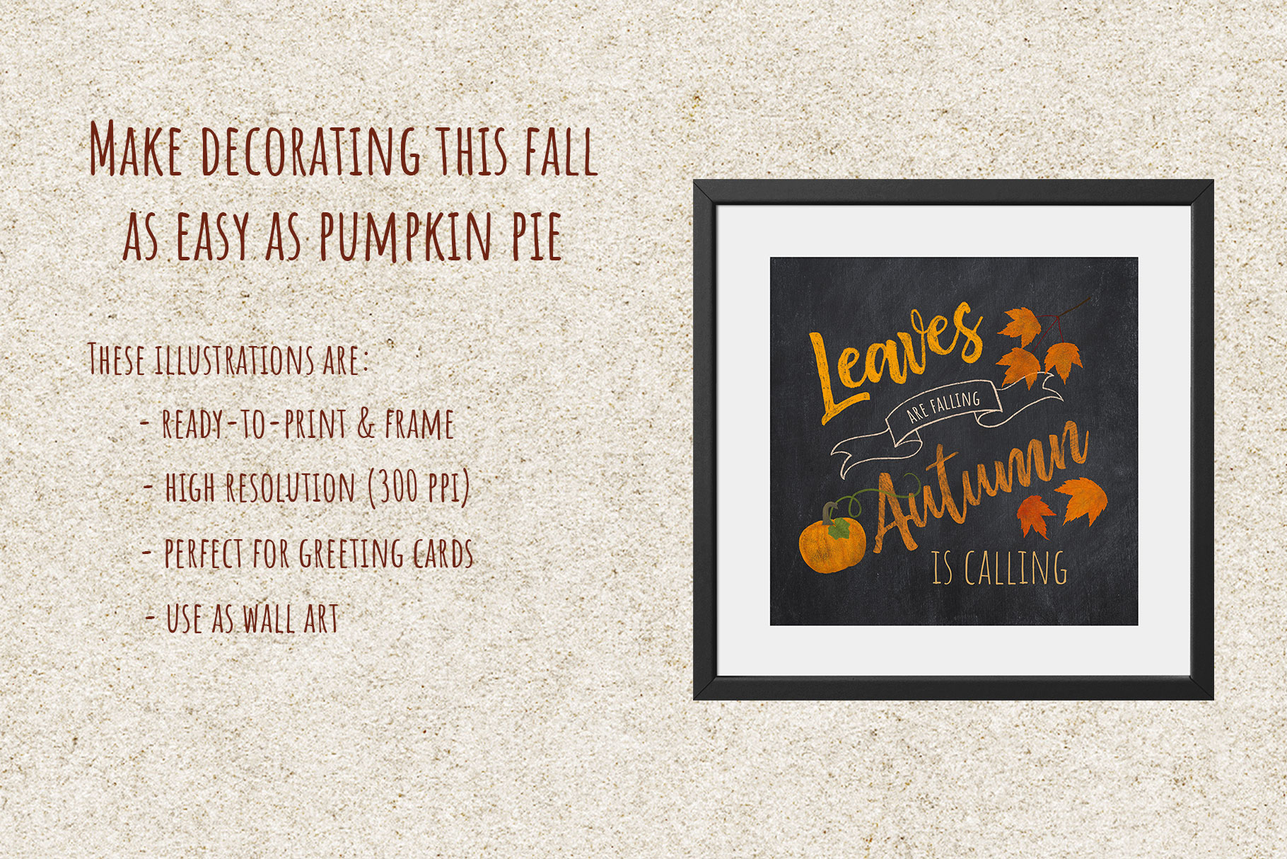 Autumn Printables & Illustrations example image 4