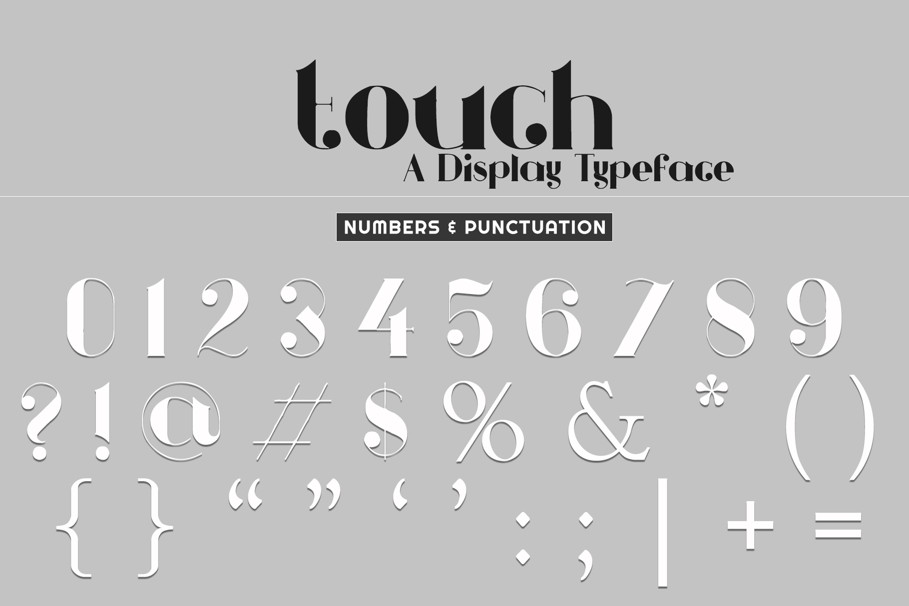 Touch - A Display Typeface example image 5