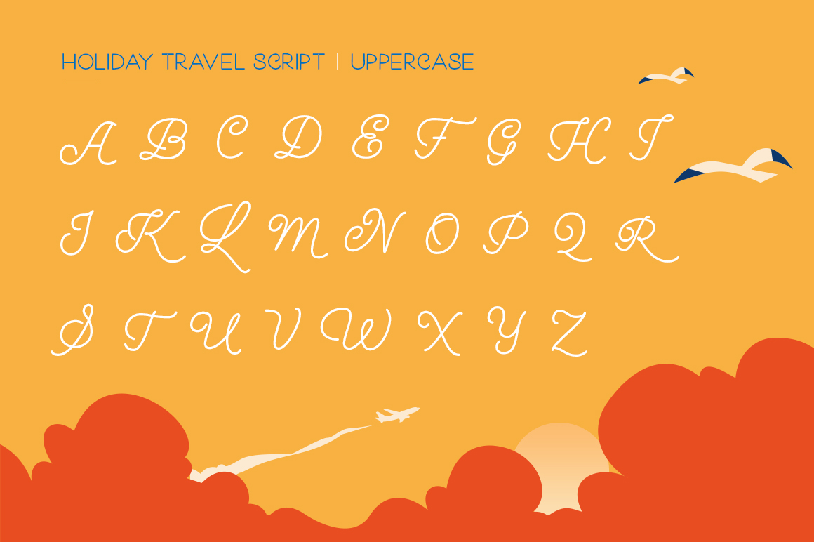 Holiday Travel Font Duo example image 6