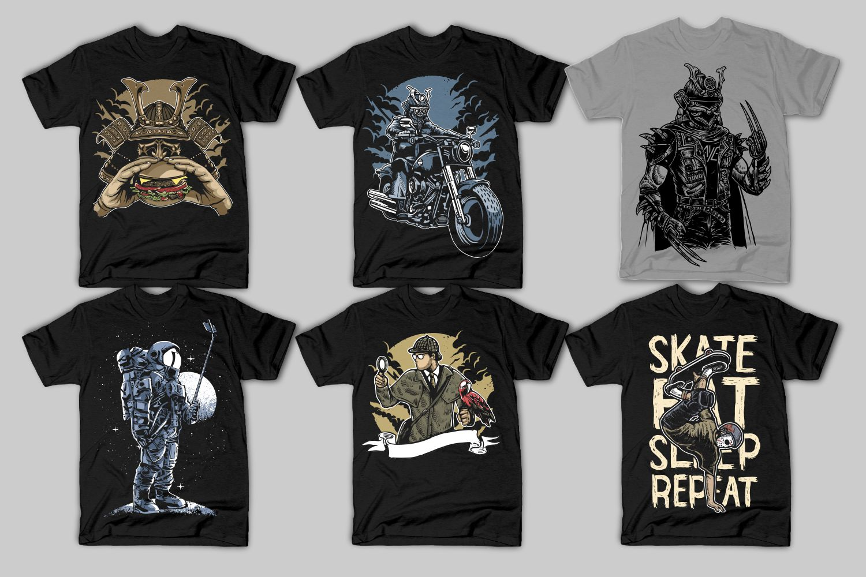 40 Tshirt Designs Bundle example image 4
