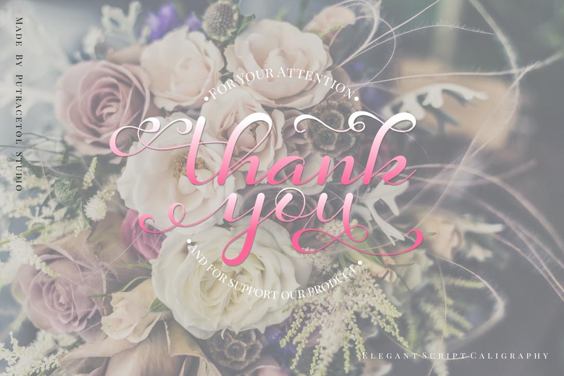 Daysha - Wedding Font example image 14