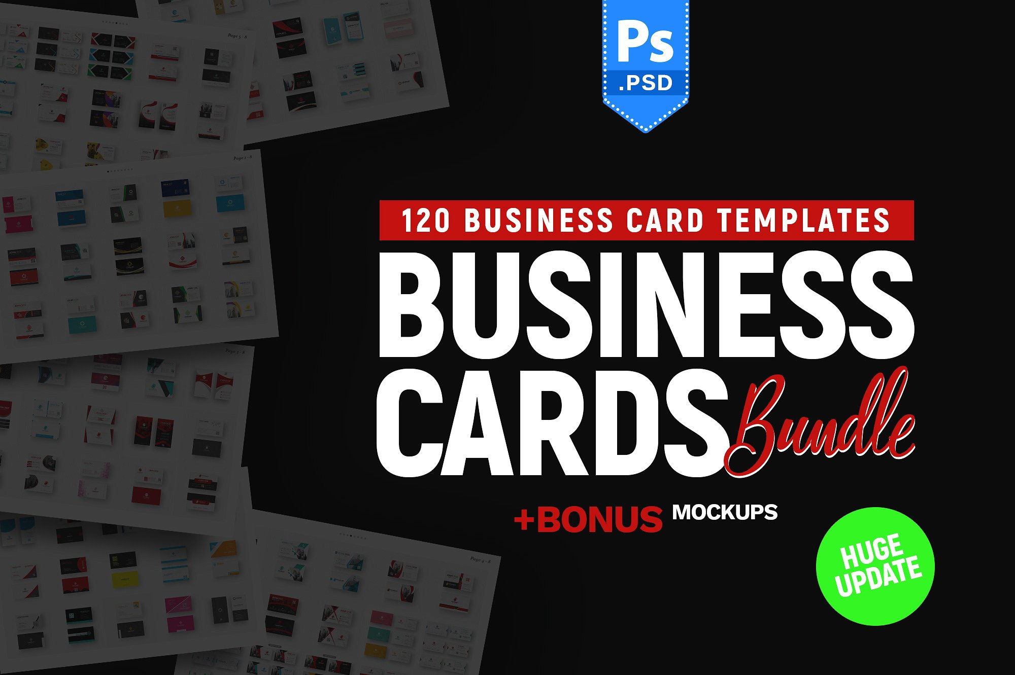 120 Business Card Bundle example image 1