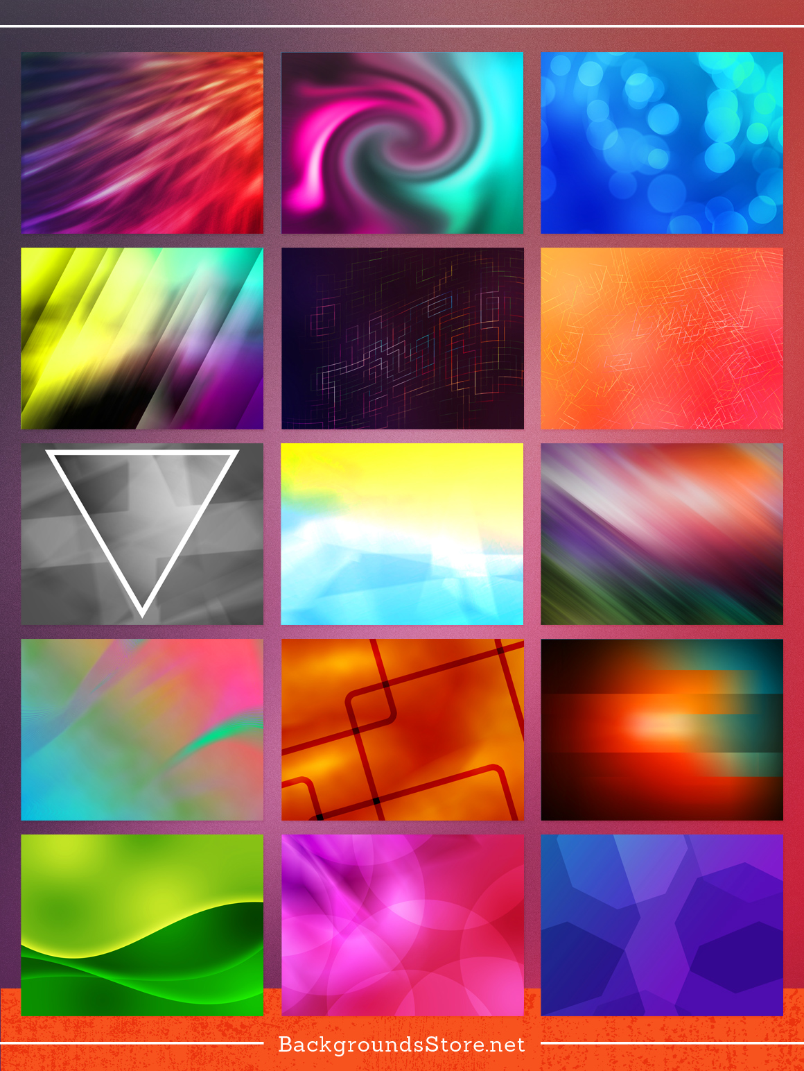 Abstracts Backgrounds Set example image 2