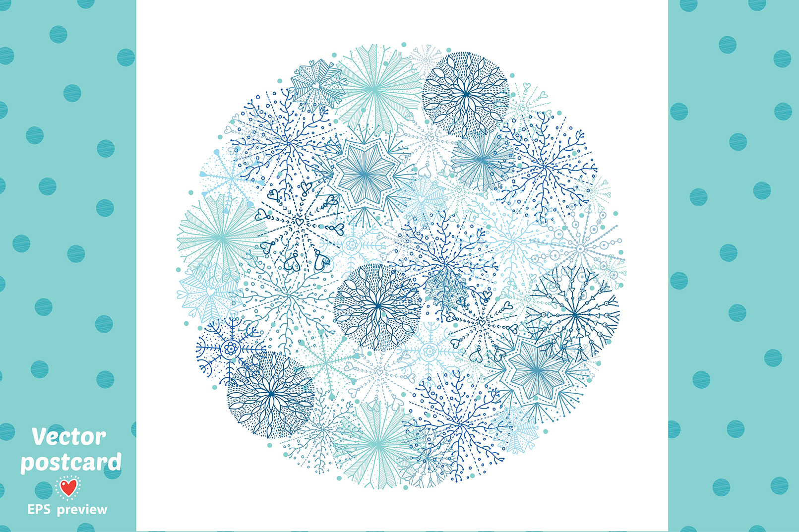 Snowflakes.Winter pattern. example image 7