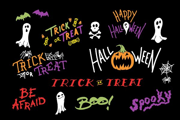 Halloween Lettering Pack example image 2