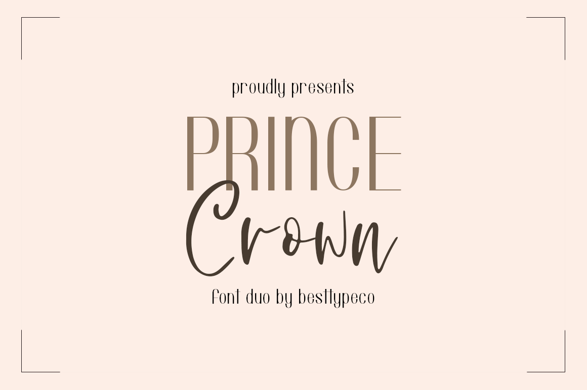 Prince Crown Font Duo example image 1